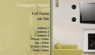 Home Entertainment System Business Card Template